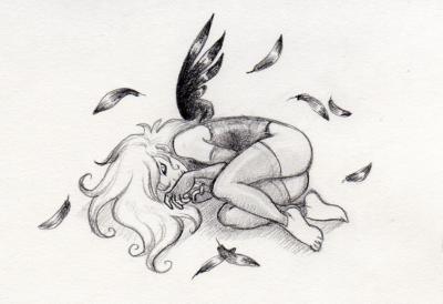 fille triste dessin